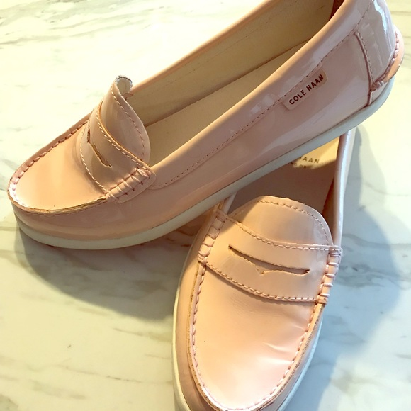 b92a7ad6ce5 Cole Haan Shoes - Cole Haan Pinch Pink Patent Leather Loafers